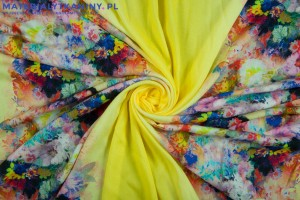 Viscose Pattern Beautiful Flowers